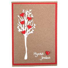Koristele valkoinen ääriviivatarrapuu pikkuisilla punaisilla kuviolävistäjällä leikatuilla sydämillä.
