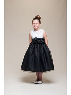 Crayon Kids2 toned dress with ribbon blackwhite 6 *** Details can be found by clicking on the image.