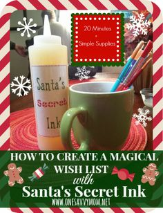 """One Savvy Mom™   NYC Area Mom Blog : Kids Craft Tutorial: How To Create A Magical Christmas Wish List With """"Santa's Secret Ink"""""""