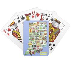 Indiana Playing Cards - home gifts ideas decor special unique custom individual customized individualized