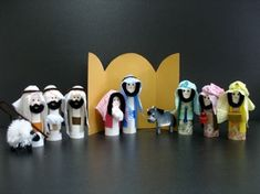 Nativity! Step by step directions. Could use for any Bible character! Toilet Paper Tube Nativity set