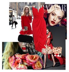 """""""Red is the new black"""" by maria-sarb ❤ liked on Polyvore featuring Dolce&Gabbana, Christian Dior, House of Harlow 1960, Zimmermann, Giuseppe Zanotti, Reeds Jewelers and Paloma Picasso"""