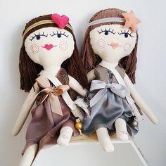 Dolls for sisters 👭 ❤🌟 #plushie #doll #dollmaker #embroidered #sewcute #handmadedoll #kidsdecor #dollface #instamatka #lalka #handmade #hairdoll #softtoy #girltoys #heirloomdoll #brownhairs #etsykid #design #dladziecka #dollclothes #dollmaker #design #sisters #forkids #kidsroom #scandistyle #sweet #sisterpower👭