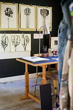 Painting On: Studio organization Part 1: Hanging works on paper