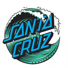 Good old Santa Cruz - Classic - Logos Surf Stickers, Laptop Stickers, Bumper Stickers, Surfboard Stickers, Brand Stickers, Santa Cruz Stickers, Santa Cruz Logo, Santa Cruz Surf, Skateboard Logo