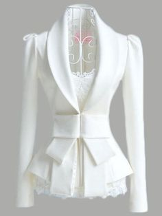 Fold Over Collar Bow Plain Blazer Wholesale Clothing Online Store. We Offer Top Good Quality Cheap Clothes For Women And Men Clothing Wholesaler, Get Affordable Clothing At Worldwide. Blazer Outfits, Blazer Fashion, Casual Outfits, Blazer Dress, Casual Blazer, Long Blazer, Dress Outfits, Blazer Jacket, Dress Shoes