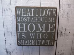 wooden sign what i love most about my home is by CiderHouseMill, $29.00