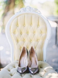Shoe Inspiration I Sparkle Away!  Repin by Colin Cowie Weddings #wedding #bridalshoes #sparkle #heels #silver