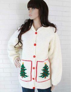 Christmas Tree Sweater Jacket Crochet Pattern