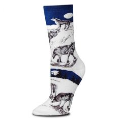 Start your day off on the right foot when you choose to wear these thick Night Wolf socks. Designed with comfort in mind, each pair is crafted for ultimate satisfaction using a 3 to 1 blend of Acrylic