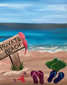Private Beach painting