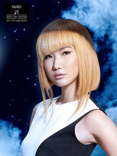 Summer Moon is a Pret-a-Porter look inspired by the moon light in the clear bright night sky reflected on the strands of straight hair. Summer Moon is a result of the application of Makarizo Rebonding System Colored Straight where hair could be straightened and colored at once.