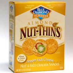 Blue Diamond NUT-THINS almond crackers Pepper Jack Cheese Nut & Rice chips snack