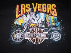 Harley-Davidson Black T-Shirt XL Las Vegas, Nevada