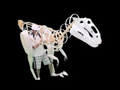 My new mechanical dinosaur. Funny costume for Halloween - YouTube