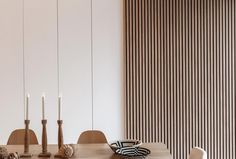 Natural Oak | Maestro Design Wood Slat Wall, Timber Slats, Light Oak, Wood Accents, Design Moderne, Interior Walls, Wood Doors, Design Awards, Decoration