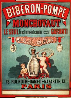 vintage beverage ad poster MONASTINE old fashioned FRENCH COUNTRYSIDE 24X36