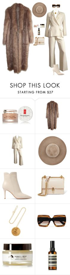 """Big Spender"" by naisvisions ❤ liked on Polyvore featuring Elizabeth Arden, Thierry Mugler, Eugenia Kim, Gianvito Rossi, Fendi, Alighieri, Gucci, EARTH TU FACE and Aesop"
