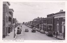 RP: MACLEOD, Alberta, Canada, 30-50s; 24th Street, Rexall Drug Store, Hotel
