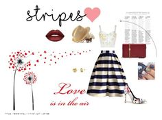 """""""Stripes"""" by wevinka ❤ liked on Polyvore featuring Chicwish, STELLA McCARTNEY, Marc Jacobs, Mark & Graham, Lime Crime and love"""