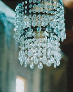 baby blue chandelier