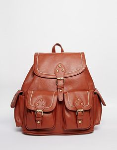 New Look | New Look Stab Stitch Backpack at ASOS