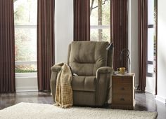 This reclining chair does well on its own to provide comfort and style to any room.