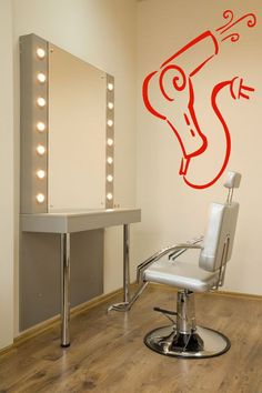 Wall Room Decor Art Vinyl Decal Sticker Mural Fan Hair Dryer Beauty Salon AS255 #3M