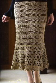 Positively Crochet!: Long Lacy Skirt by Mary Jane Hall this is gorgeous-repinning because she lists the pattern book it comes in