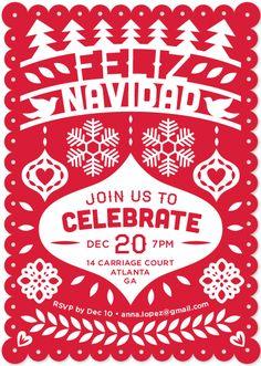 Feliz Navidad Fiesta Banner by Shari Margolin for minted