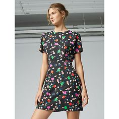 Buy Warehouse Geo Party Print Dress, Multi from our Women's Dresses range at John Lewis & Partners. New Years Dress, Long Summer Dresses, Short Sleeve Dresses, Long Sleeve, Fashion Company, Flare Skirt, Geo, Warehouse, How To Wear