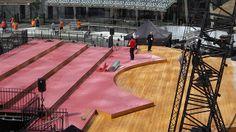 Il #palco in costruzione #expo365 #expo2015