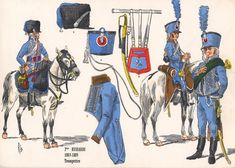Frenc; 2nd Hussars, Trumpeters 1803-05 a  Plate by Rigo