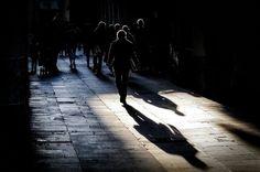 Shadows in El Raval, Barcelona.