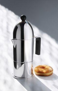 LA CUPOLA Aluminium coffee maker by @alessiofficial  #design Aldo Rossi (1988)