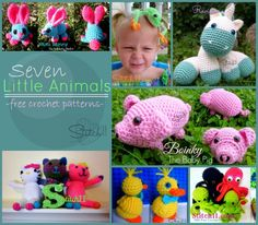 Seven Little Animals - Free Crochet Patterns-