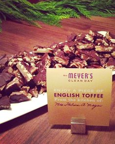 Mrs. Thelma A. Meyer's English Toffee with Printable Recipe Card - http://www.sweetpaulmag.com/food/mrs-thelma-a-meyers-english-toffee-with-printable-recipe-card #sweetpaul