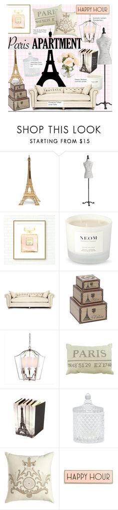 """""""Paris Apartment"""" by kusja ❤ liked on Polyvore featuring interior, interiors, interior design, home, home decor, interior decorating, Merci Gustave!, Pier 1 Imports, Chanel and NEOM Organics"""