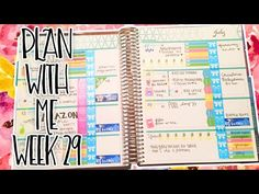 PLAN WITH ME: WEEK 29 IN MY HORIZONTAL ERIN CONDREN LIFE PLANNER! - YouTube