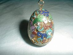 vintage cloisonne necklace egg necklace by qualityvintagejewels