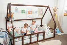 House Frame Bed, Bed Frame, Furniture Care, Kids Furniture, Indoor Playhouse, Indoor Playroom, Childrens Bedroom Furniture, Kids Canopy, Twin Toddlers