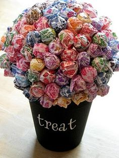 """I know you already have a """"vase"""" for the Tootsie Roll Pops.  This reminded me of it!"""