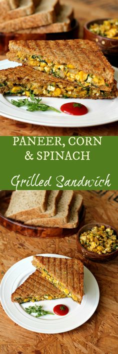 A super yummy snack option for kids and adults alike with the goodness of paneer (cottage cheese), corn & spinach. Serve it hot as an evening snack or lunch box option! Paneer Recipes, Veg Recipes, Indian Food Recipes, Snack Recipes, Cooking Recipes, Recipies, Healthy Recipes, Indian Snacks, Cake Recipes