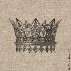 Iron Crown Illustration  Digital Image No.157 by DeNicheGalerie, $2.00