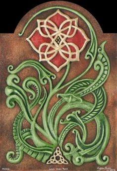 wild irish rose   Wild Irish Rose - $120.00 : Celtic and Fantasy art in Cast Paper by ...