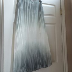 Long Chico's skirt As per pic. Soft green hues. Lined.38 inches long. Waist 31 inches. Zippered. Chico's Skirts Maxi