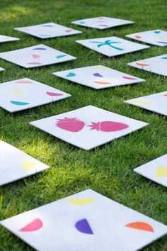 DIY Giant Lawn Matching Game with Free Printable Stencils // via: Studio DIY