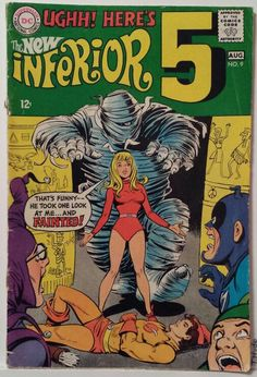 These guys never caught on.  Vintage Comic Book Cover Art / 'The New Inferior 5'