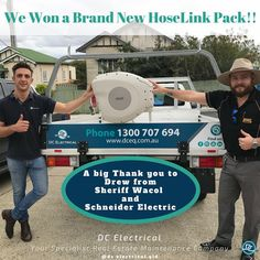 We won a Brand New Hoselink Pack!!⠀ ⠀ A big thank you to Drew from Sheriff in Wacol and Schneider Electric.⠀ ⠀ 🏆🥇🏆🎉⠀ ⠀ DC Electrical Brisbane ⚡⠀⠀ ⠀⠀ DC Electrical provides full electrical services for domestic & commercial. ⠀⠀ ⠀⠀ We have electrician's available 24/7.⠀⠀ ⠀⠀ Call Us On : 1300 707 694⠀⠀ Or Email Us Today : service@dceq.com.au⠀⠀ ⠀⠀ Servicing Brisbane & Surrounding Areas (from Gold Coast to Sunshine Coast & out West to Toowomba)⠀⠀ Sunshine Coast, Sheriff, Gold Coast, Conditioning, Brisbane, Commercial, Electric, Packing, Brand New
