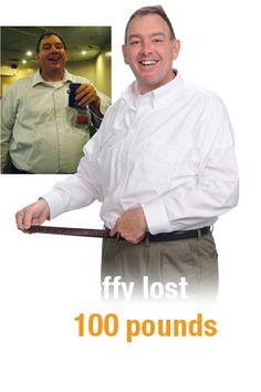 Congratulations Jeffy!  100 pounds gone!